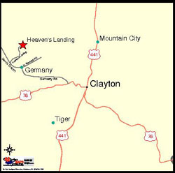 3.5 Miles from Clayton Map